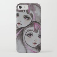 sisters iPhone & iPod Cases featuring Sisters by kaliwallace