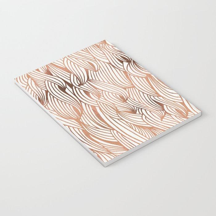 Rose Gold Waves Notebook