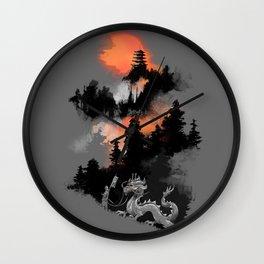 A samurai's life Wall Clock