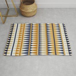 Geometrical Art, Yelllow and Blue, Boho Wall Art Rug