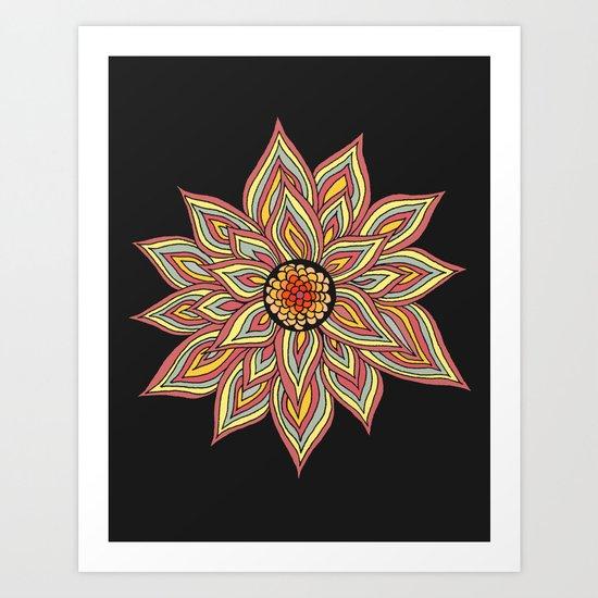 Incandescent Flower  Art Print