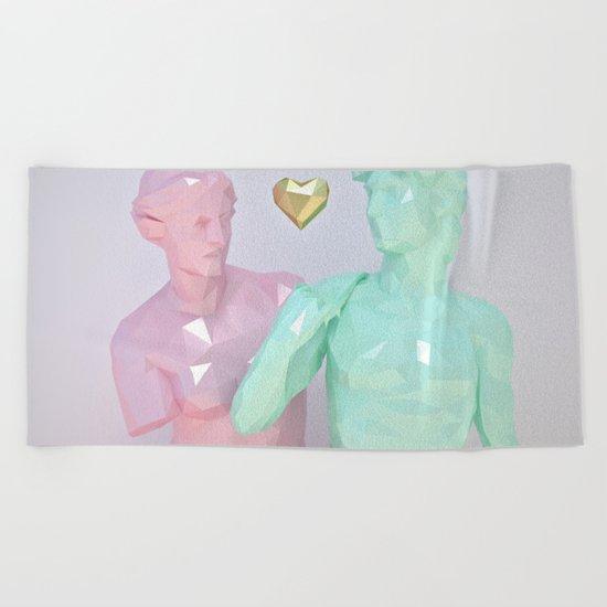 Two Lovers Beach Towel