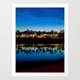 Sunset on the Lake (Portrait) Art Print
