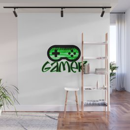 Gamer Green Wall Mural