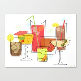 Swanky Summer Coolers Canvas Print