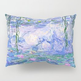 Claude Monet Water Lilies French Impressionist Art Pillow Sham