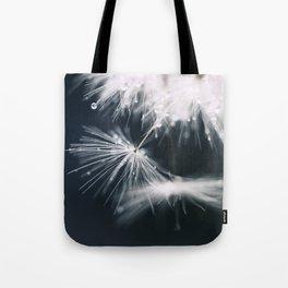 dandelion white Tote Bag