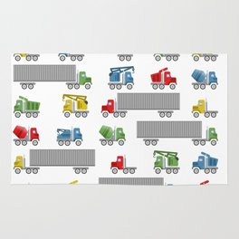 Trucks Childrens Room Decor Rug