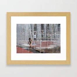 Water Play Framed Art Print