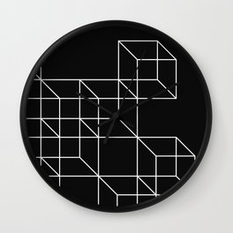 Cube forms Wall Clock