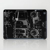 jeep iPad Cases featuring Jeep: Byron Q. Jones Original Jeep Patent - White on Black by Elegant Chaos Gallery