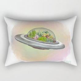 UFO Terrarium Rectangular Pillow