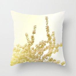 Sunlit Cherry Blossoms - Dreamy Floral Photography - Flower Art Prints, Apparel, Accessories... Throw Pillow
