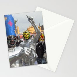 Silver Lucha Libre Stationery Cards