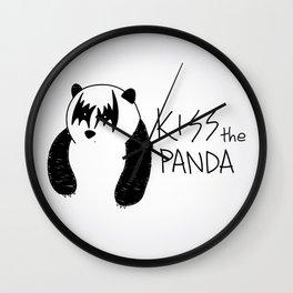 Kiss the Panda Wall Clock