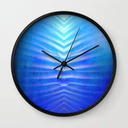 blue corner Wall Clock