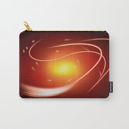 Red Glow Lines Carry-All Pouch