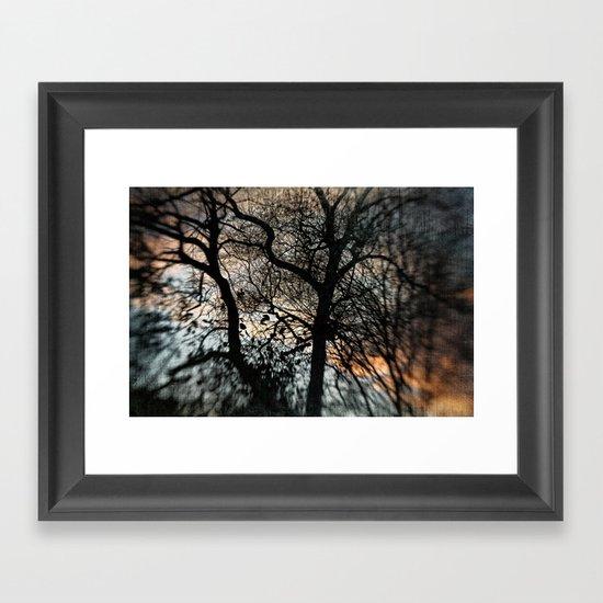 Bleak Winter Sunset Framed Art Print