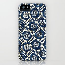 Blue and White Flower Pattern iPhone Case