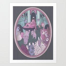 Monster Hierarchy Art Print