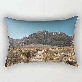Path to Red Rock Canyon Rectangular Pillow