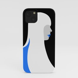 Joni Mitchell portrait (blue) iPhone Case