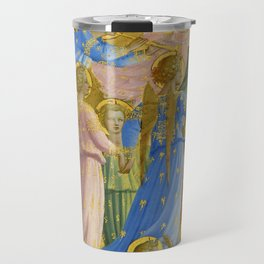 """Fra Angelico (Guido di Pietro) """"The Dormition and Assumption of the Virgin"""" (4) Travel Mug"""
