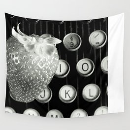strawberry typewriter Wall Tapestry