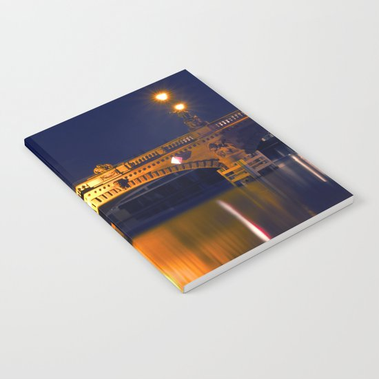 Nocturnal Lights on the river Spree in Berlin Notebook