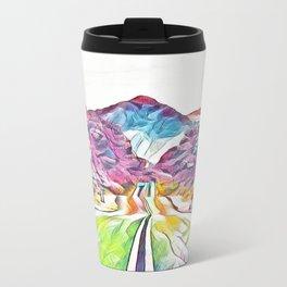 Rainbow Road Metal Travel Mug