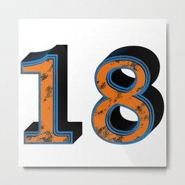 Eighteen Metal Print