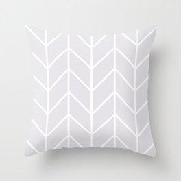 Herringbone Chevron (Gray) Throw Pillow