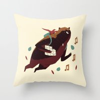 banjo Throw Pillows featuring banjo-kazooie by Louis Roskosch