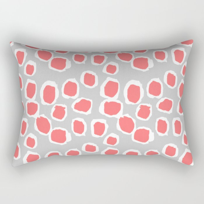 Zola - Abstract painted dots, painterly, bold pattern, surface pattern, print pattern design Rectangular Pillow