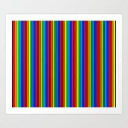 Vertical Rainbow  Art Print