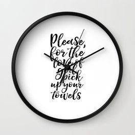Bathroom Sign Inspirational Poster Quotes Art Print Bathroom Art Bathroom Prints Funny Quotes Funny Wall Clock
