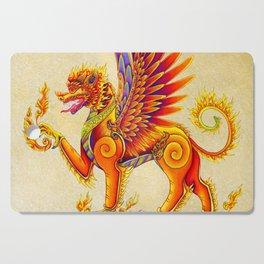 Singha Winged Lion Temple Guardian Cutting Board