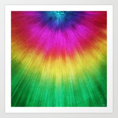 Colorful Starburst Tie Dye Art Print