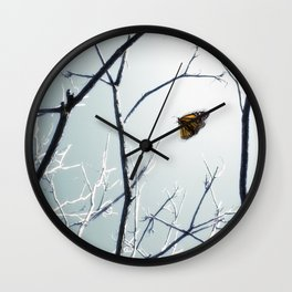 First Sign of Spring Wall Clock
