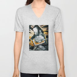Petroleum based | Collage Unisex V-Neck