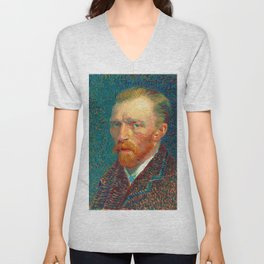 Vincent van Gogh - Self-Portrait, Spring - Digital Remastered Edition Unisex V-Neck