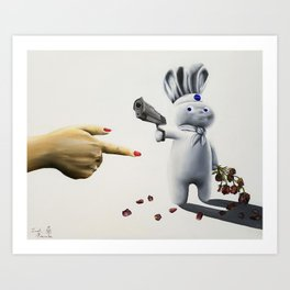 Pillsbury Doughboy becomes fed up with the poking Art Print