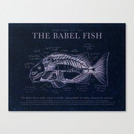 Babel Fish Anatomy (Monochrome) Canvas Print