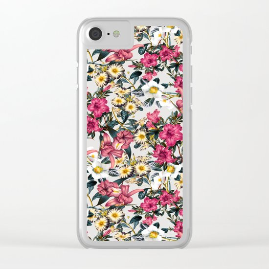 CLASSIC FLORAL PATTERN II Clear iPhone Case