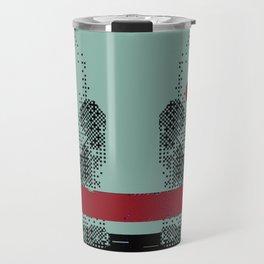 Glitch scull Travel Mug