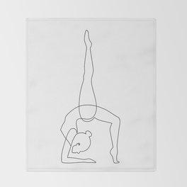 Inhale - Exhale Throw Blanket