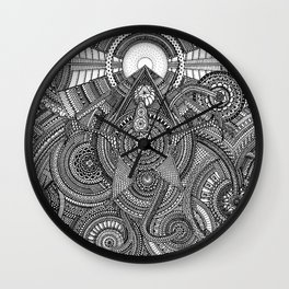 Tiny Geometries Wall Clock