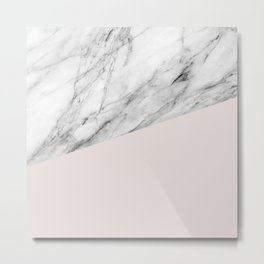 Marble with Almost Mauve Color Metal Print