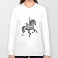 carousel Long Sleeve T-shirts featuring Carousel by Total-Cult
