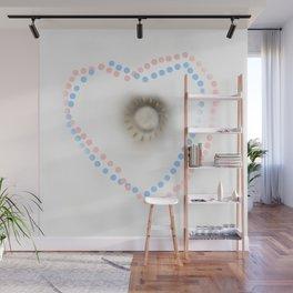Pastel hearts Wall Mural
